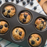 Whole-Wheat Bursting-with-Blueberry Muffins